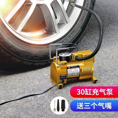 巨木 車載充氣泵汽車用小轎車輪胎打氣泵車用電動便攜式打氣筒不帶燈