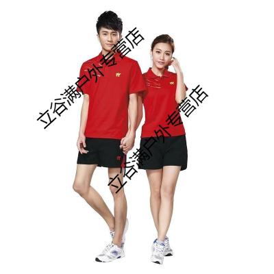 新款羽毛球服套裝棉質男女款乒乓球服情侶款短袖運動服訓練比賽服