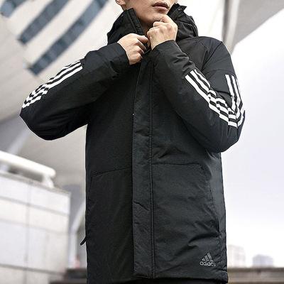 阿迪达斯男装2019冬季新款户外运动防风保暖连帽棉服外套CY8624