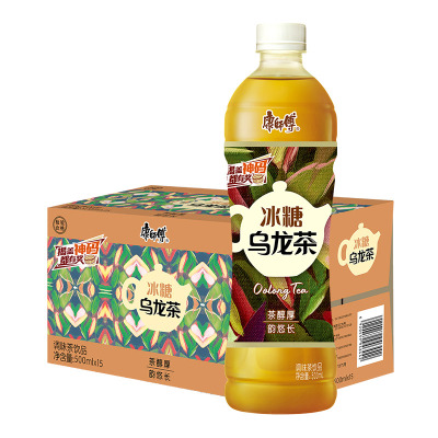 康师傅 冰糖乌龙茶500ml*15瓶 饮品 饮料整箱装