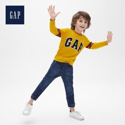 Gap男幼童舒適圓領套頭毛衣春489375 寶寶洋氣打底針織衫潮流上衣