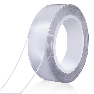 乾越(qianyue)網紅納米雙面膠加厚高粘度強力透明魔力膠防水耐高溫墻面固定不留痕 3m*3cm*1mm