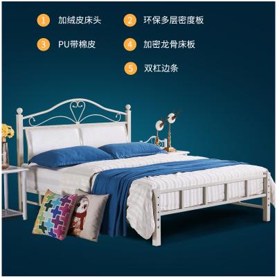 叠亿 铁艺床 铁架床 双人 龙骨床 单床 不含床垫