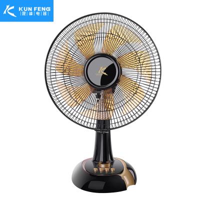 昆峰电器(KUN FENG)电风扇台式家用静音台扇宿舍办公室立式摇头定时桌面电扇FT-30II