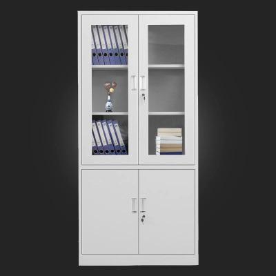 哈尔滨文件柜带锁档案柜偏三斗内保文件柜铁皮储物柜卷柜资料柜
