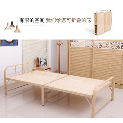 尋木匠松木床可折疊床雙人床1.2米實木床單人床1米木板床小床簡易省空間