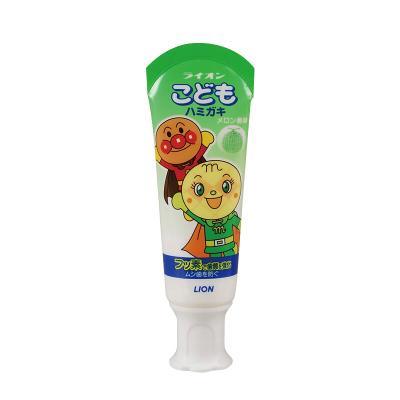 【直營】Lion/獅王面包超人兒童防齲齒牙膏 可吞咽 有效清潔牙齒 蜜瓜味40g 水果味寶寶口腔發育(保稅)