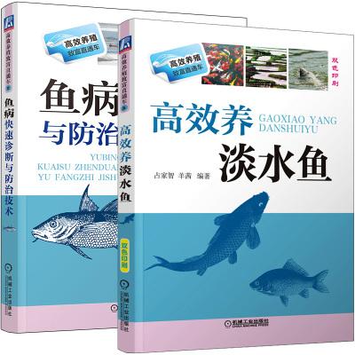 高效養淡水魚+魚病快速診斷與防治技術(雙色印刷) 養魚書籍技術養殖魚病圖譜水產淡水魚青魚草魚鯉魚書如何養魚資料書飼料配方