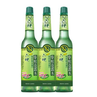 六神 驅蚊花露水195ml(薄荷香型)經典玻璃瓶裝3瓶