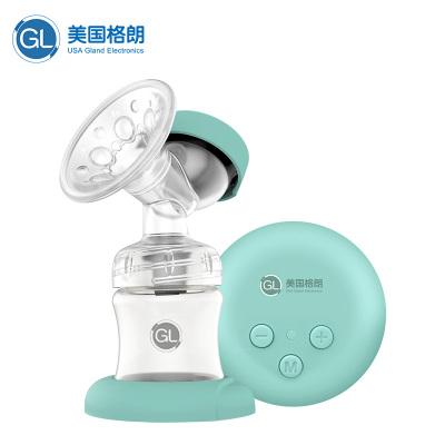 GL格朗电动吸奶器低音双边大吸力九档调节自动按摩拔奶器便携静音调频吸乳器P-18(薄荷绿)