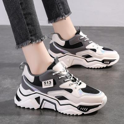 專成 女鞋春夏季新款2020網紅超火厚底智熏運動鞋學生顯腳小老爹鞋女士休閑鞋小白鞋女單鞋WK M20