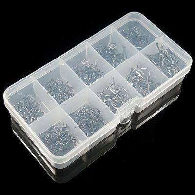 大盒裝伊勢尼魚鉤3-12號套裝有倒刺鯽魚鯉魚魚通用鉤八月七