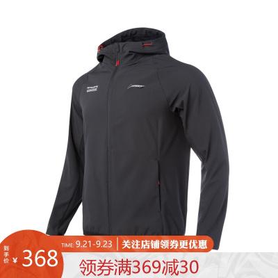 李寧風衣男士2020新款訓練系列開衫長袖連帽外套防潑水梭織運動服