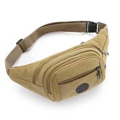 朵洛蒂包包男士手机腰包运动胸包单肩户外休闲帆布包多功能背包斜挎男包