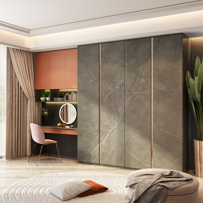 皮阿諾全屋定制臥室衣柜床頭柜一體現代簡約衣帽間帶梳妝臺電視柜玄關柜整體家裝