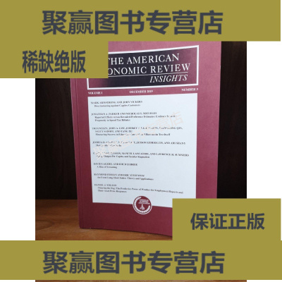 正版9层新 THE AMERICAN ECONOMIC REVIEW INSIGHTS 2019
