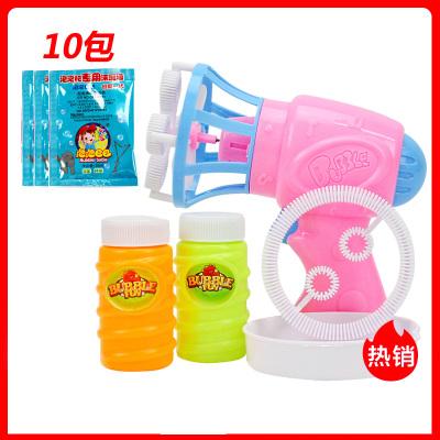 【买1送2瓶泡泡液+10包兑换液】儿童电动泡泡机全自动吹泡泡环保无毒带风扇