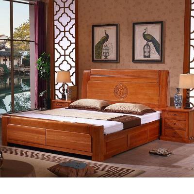 梦引 实木床新中式花梨木1.8米红木双床1.5仿古典主卧室工厂直销
