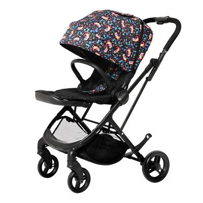 elittile婴儿推车可坐可躺轻便折叠双向高景观伞车宝宝手推车 dream5第五代双向升级版