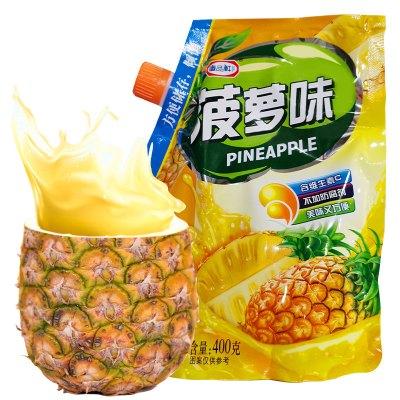 唐品軒菠蘿味速溶固體飲料400g 夏季果汁粉 家用袋裝 水果味速溶飲料 固體果珍沖飲粉 果汁沖調原料