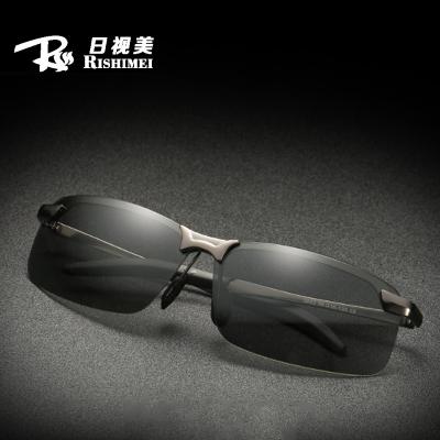 日视美(RISHIMEI)新款男士偏光太阳镜弹簧腿夜视镜户外骑行变色日夜两用墨镜