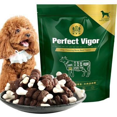 耐威克寵物狗零食泰迪貴賓金毛比熊犬種通用牛肉潔齒骨100g