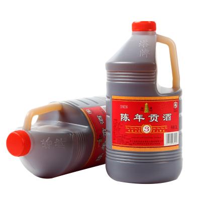 塔牌黃酒三年陳年貢酒3L桶裝手工酒紹興黃酒特產料酒調味自飲皆可