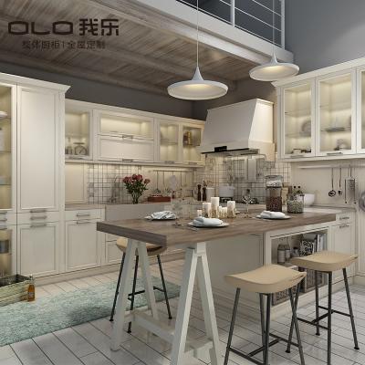 我樂櫥柜輕奢圣馬可櫥柜定制廚房碗柜整體開放式灶臺柜經濟型家用