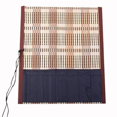 毛笔笔帘文房用品 带布学生笔帘笔袋可定制竹帘 竹卷