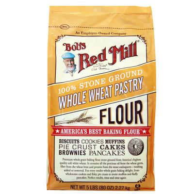 美国鲍勃红磨坊石磨研磨全小麦蛋糕粉2.27KG 美国进口一鼎美食