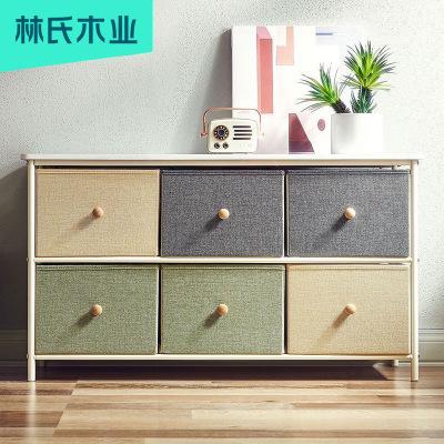 【拼·爆】林氏木業北歐風格角柜簡約置物柜小戶型墻邊柜客廳儲物家具LS149