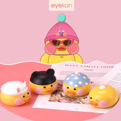 凱達eyekan隱形眼鏡盒伴侶簡約可愛ins網紅玻尿酸鴨鑷子吸棒