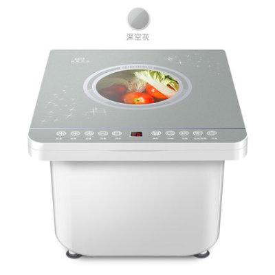 嵌入式洗菜機家用全自動水果蔬菜機肉類凈化機除 淺灰色