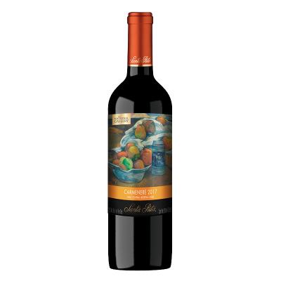 智利中央山谷產區 圣麗塔(Santa Rita)國家畫廊珍藏佳美娜干紅葡萄酒750mL單瓶裝