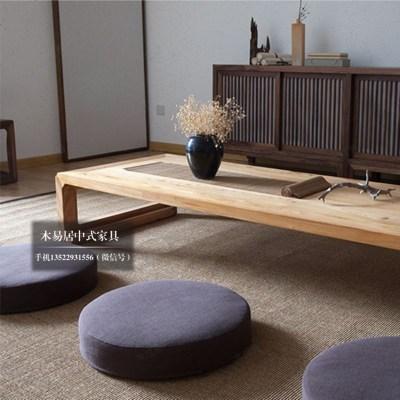 顾致老榆木实木茶几矮茶桌日式榻榻米炕几炕桌飘窗桌新中式禅意家具