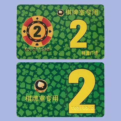 麻將機籌碼幣 撲克牌棋牌室籌碼卡片娛樂卡片方形VC 棋牌室 【凹凸碼2元】(100張)