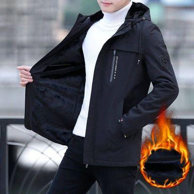 春秋男士中长款连帽韩版修身四季外套男青年休闲上衣褂子 莎丞