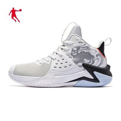 喬丹官方旗艦男鞋籃球鞋男戰靴2020夏季新款高幫減震運動鞋網面透氣球鞋