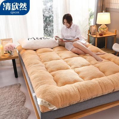 清欣然(QinGXR)家紡 羊羔絨床墊榻榻米床褥子1.5/1.8米床雙人家用軟墊子宿舍單人墊被