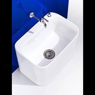 拖布池陶瓷拖把池陽臺洗地拖盆帕槽衛生間大號小號落地式家用