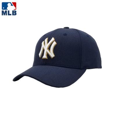 MLB2020春夏新款正品情侶款棒球帽男女同款運動休閑帽遮陽帽子 蘭色可調節