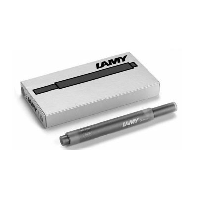 【原装墨胆】LAMY凌美 德国原装进口 一次性非碳素 墨水胆笔芯 墨囊 签字笔钢笔水笔狩猎者恒星通用 5支/盒