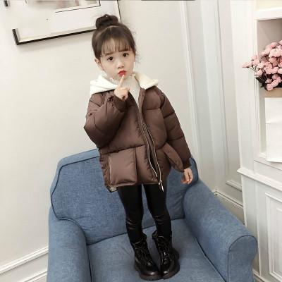 女童面包服棉衣冬季中大童加厚保暖宝宝棉袄短款棉服韩版