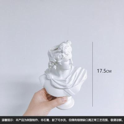 花插-(高約17.5cm) 北歐風復古頭像花瓶希臘人物像花插擺件立體樹脂仿石膏花盆ins【定制】
