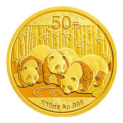 河南中錢 中國金幣 2013年熊貓1/10盎司金幣