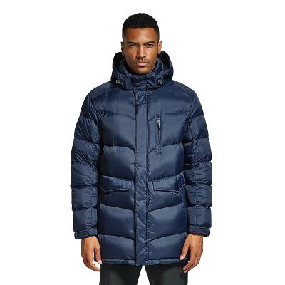 曼哥夫(Mangrove)户外鹅绒羽绒服男中长款加厚可拆防风帽羽绒服外套男士冬季
