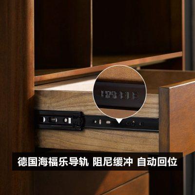 杞沐【官方抽檢實木】北歐書架書柜落地置物架現代簡約收納書櫥