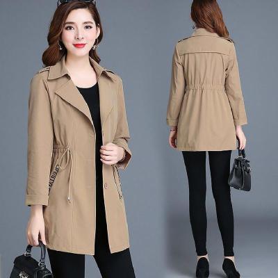 女士外套 冬季妈妈装  外套女 大码韩版单排扣修身外套女潮 臻依缘