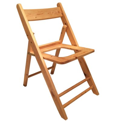 尚熙 可折叠实木坐便椅老人孕妇移动马桶木质厕所凳大便凳子座便器宽靠背便携送专属坐垫
