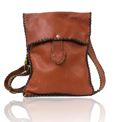 藏式包少女包包斜挎包真皮時尚簡約百搭小仙女棕色斜挎單肩包